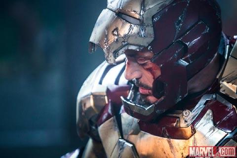 nueva imagen de IRON MAN 3 derrotado